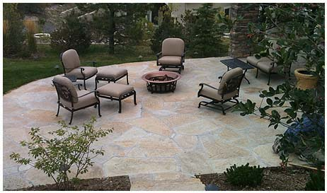 flagstone landscaping in denver